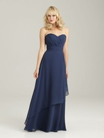 The Best Choice A-line Ruffle Sweetheart Chiffon Floor-length Bridesmaid Dresses with Simple Design BD227