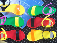 Women's Sandals 2014 Summer Beach Color block decoration jelly shoes female slippers