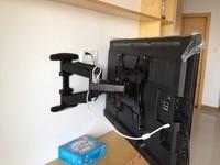 Nbsp600 lcd wall mount retractable rotation mount echinochloa frumentacea tv mount