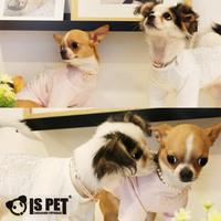 Ispet pet clothes flashing sand rhinestones 100% cotton t-shirt three-color ss-025 teddy