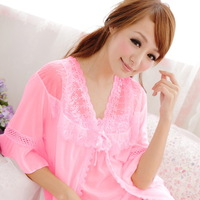 Summer sleepwear female sexy temptation spaghetti strap lace nightgown lounge mm maternity plus size plus size lounge