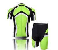2014 New Hot Fashion short sleeve sportswear bicyle bike cycling wear jersey+(bid) shorts size S-3XL Wholesale CJ005