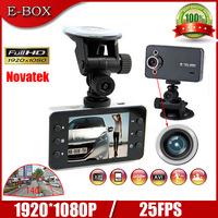 Free shipping K6000 Car DVR Camera Recorder Novatek Full HD 1920*1080P 25FPS 2.7'' LCD HDMI Night Vision G-sensor Cash Cam