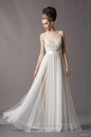 Brief fashion wedding dress belt lace perspective formal dress sexy jean dream wedding dress