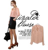 New 2014 women blouses Chiffon Blouses Fashion OL Shirts three Sleeve for Women Summer Button Pocket Fashion Officer work wear