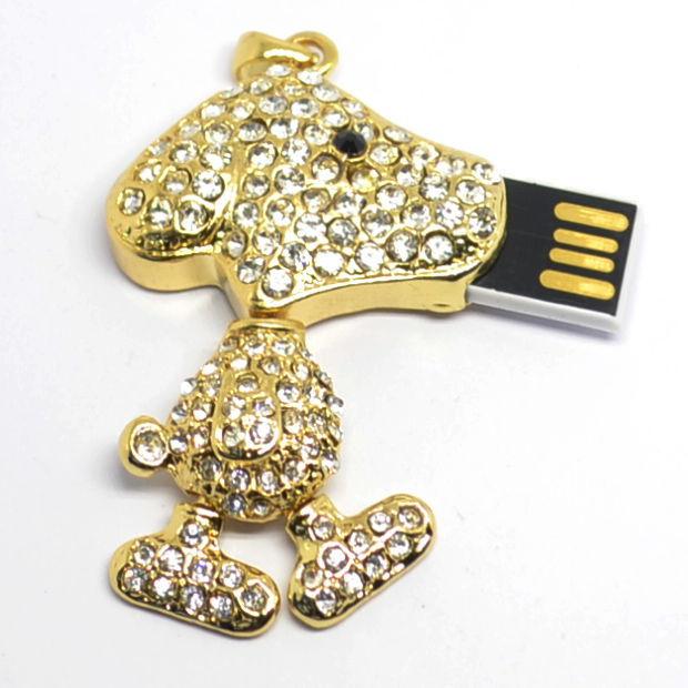 u disk flash disk happy dog animal 4gb 8gb 16gb 32gb jewelry usb flash drive jewelry usb memory pen driver gifts gadget(China (Mainland))