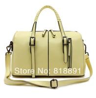New 2014 HOT Fashion Casual Tassel High Grade Branded Cow Leather Handbag Single Shoulder Bag Motorcycle Bag Wholesale