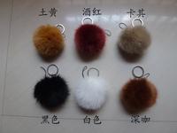 Faux fox fur ball bags pendant keychain cell phone accessories large fox fur ball