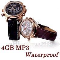 Free shipping,Built-In Portable MP3 4GB Waterproof Watch DVR Camera Watch Camera Mini DVR