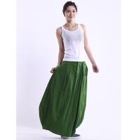 2014 women long linen skirts original design full  bud skirt