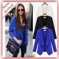 New 2014 Women Suit Blazer Foldable Brand Jackets women blazer clothes suit shawl thin chiffon suit cardigan jacket Coat