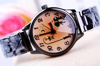 Digital women's steel watch 167326