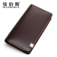brand wallet men business long zipper clutch bag multi genuine leather wallets purse mens wallet card holder carteira masculina