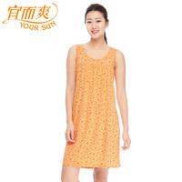 Women's derlook skirt print nightgown thin breathable home dress