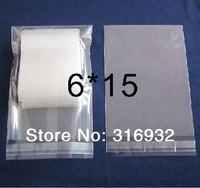 E4 Clear Resealable Cellophane/BOPP/Poly Bags 6*15 cm  Transparent Opp Bag Packing Plastic Bags Self Adhesive Seal