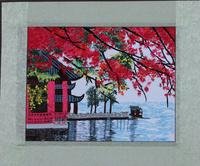 Suzhou embroidery finished product painting distribution box decorative painting suzhou embroidery handmade single face