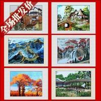 Suzhou embroidery finished product suzhou embroidery decorative painting handmade soft distribution box painting landscape