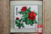 Unique gift suzhou embroidery computer embroidery painting suzhou embroidery decorative painting embroidery painting peony