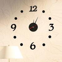 Diy Wall Clock Acrylic Material Fun Decoration Digital Clock