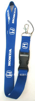 Hot 10pcs Fashion Blue Honda Popular Car Logo Lanyard/ MP3/4 cell phone/ key chains /Neck Strap Lanyard WHOLESALE Free shipping