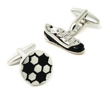 Shoes and football shape cufflinks, men's cuff links AS-43