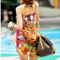 Simple dress beach dress long beach towel mantillas large beach scarf beach shirt skirt