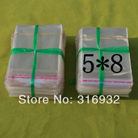 E4 Clear Resealable Cellophane/BOPP/Poly Bags 5*8cm  Transparent Opp Bag Packing Plastic Bags Self Adhesive Seal