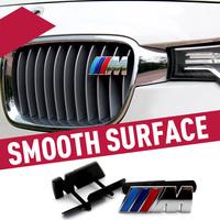 Excellent New 3D M Metal Front Grille car Sticker Badge For BMW m3 m5 X1 X3 X5 X6 E36 E39 E46 E30 E60 E92 car emblem