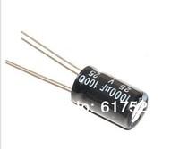 Free shipping  50 pcs 1000UF25V electrolytic capacitor 1000UF/25V 1000UF 25V 10x17mm