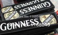 Guinness Soft PVC Bar Mat/Fashion high quality  Drip Mats/ cup mats beer  Decoration/ 50x 12x1cm(China (Mainland))