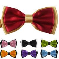 1pcs Banquet Adult Bow Tie Double Light Cravat 6*12cm