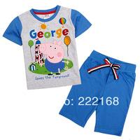 2014 NOAV A+++ Baby boys clothing set  short sleeve T-shirt  and shrt pants 2pcs suit 100% cotton retail free shipping