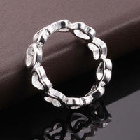 2014 Exquisite gifts!925 Sterling Sliver Romantic love Crystal Ring fahion jewelry,Wholesale jewelry R003
