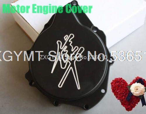 Motor Engine Stator Cover For SUZUKI Hayabusa GSXR1300 1999-2013 BLACK Left Side Engine Clutch Cover(China (Mainland))