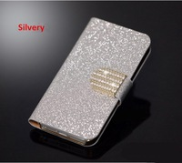 With 1 card holder  Bling Leather Phone Case for jiayu g3 Cover for jiayu g3c mobile phone  Diamond Hasp Free Shipping