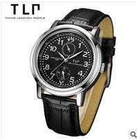 TLP brand, business, multi-function, men watches,Waterproof leather quartz watch .watches men luxury brand