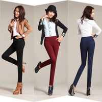 Spring 2014 New Women's Fashion Slim High Waist Pencil Pants Elastic Harem Trousers Plus Size Trousers Women 4 Colors 6 Size