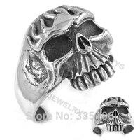Free shipping! Heavy Skull Biker Tribal Bangle Stainless Steel Jewelry Motorcycle Cuff Bangle Punk Motor Bracelet SJB0198