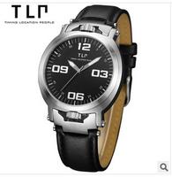 TLP brand, outdoor waterproof, unique design, sports men watches,Waterproof leather quartz watch  .watches men luxury brand