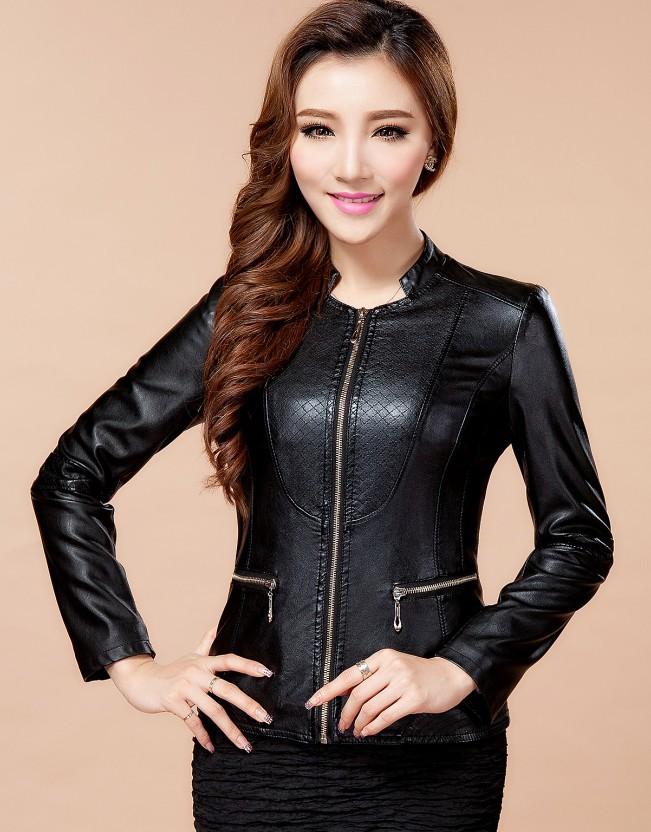 Women Black Leather Jacket - Jacket