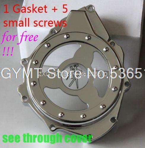 ver através de vidro estator do motor tampa para suzuki gsx1300r hayabusa 1999-2013 chr motor tampa da embreagem(China (Mainland))
