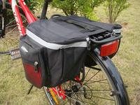 Hot Sale Free Shiiping Wholesale Cycling Mountain Bike Bags, Bicycle Rear Carrier Dual Saddle Bags, Rain Cover Camel Bag