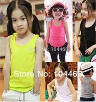 20 Colors children's clothing summer cartoon boys girls child baby vest knitted t-shirt Children's t-shirts Child Top
