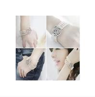 E020 accessories small accessories full rhinestone rose pearl fashion all-match bracelet