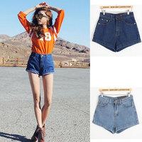 New 2014 Plus Size Fashion Casual Side Zipper Denim Shorts For Women,Spring Girls Short Jeans Pants Women's Clothing Black
