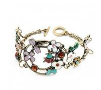 A078 ladyfly dragonfly multicolour fresh flower bracelet