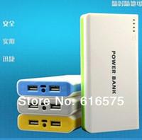 2014 new power bank 20000mAh External Power Bank Backup Dual USB Battery Charger External Battery Pack 20000 mah