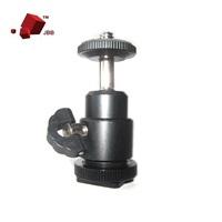 "1/4"" Mini Hot Shoe Ball Head Flash Bracket Holder Mount Screw for Camera Tripod 360 Degree"