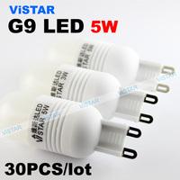 30pcs lot G9 led lamp 5w led lamp 220v 230v led bulb ceramic body 3014 smd wholesale warm white cold white free shipping