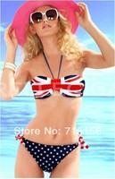 Drop Free Shipping,Women Bikini Suit,Ladies' England Flag Pattern Bikini Set,Fashion Swimwear female
